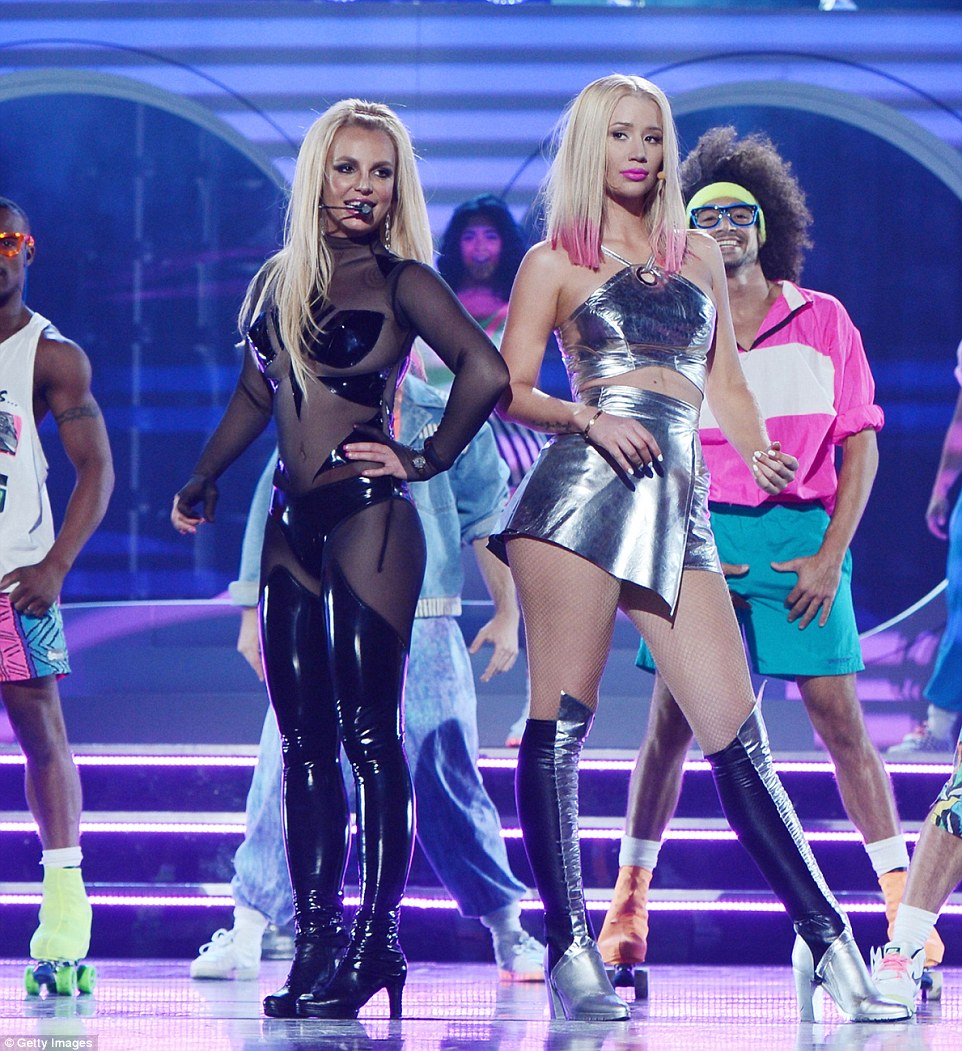 Power duo: Iggy performed Pretty Girls with Spears