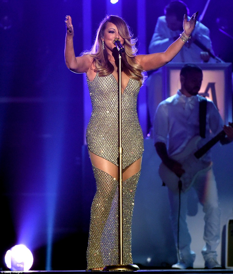 Shining: The All That Glitters star wore a sequinned dress for her performance
