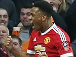 "Football Soccer - Manchester United v West Ham United - FA Cup Quarter Final - Old Trafford - 13/3/16  Anthony Martial celebrates scoring the first goal for Manchester United  Reuters / Andrew Yates  Livepic  EDITORIAL USE ONLY. No use with unauthorized audio, video, data, fixture lists, club/league logos or ""live"" services. Online in-match use limited to 45 images, no video emulation. No use in betting, games or single club/league/player publications.  Please contact your account representative for further details."