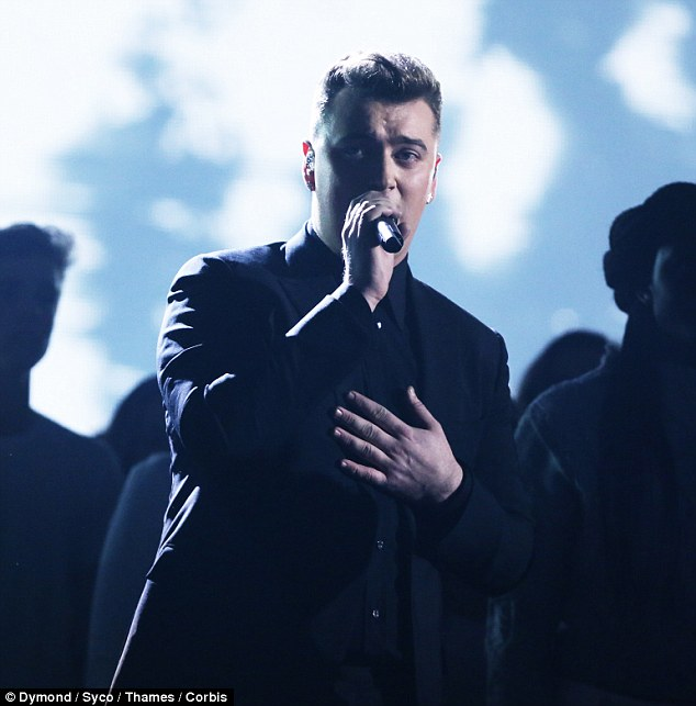 Crooner: Sam Smith performed his single Stay With Me