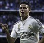 MADRID, SPAIN - APRIL 29:  James Rodriguez of Real Madrid CF celebrates scoring their opening goal during the La Liga match between Real Madrid CF and UD Almeria at Estadio Santiago Bernabeu on April 29, 2015 in Madrid, Spain.  (Photo by Gonzalo Arroyo Moreno/Getty Images)