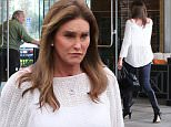 Please contact X17 before any use of these exclusive photos - x17@x17agency.com   PREMIUM EXCLUSIVE - Caitlyn Jenner wore a loose white top and tight leather pants for a family dinner in Calabasas.  Saturday, March 5, 2016 X17online.com