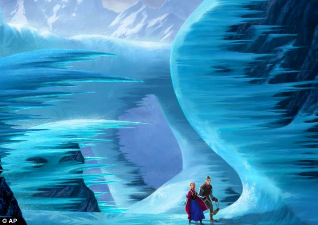 Hit film: Anna, voiced by Kristen Bell, left, and Kristoff, voiced by Jonathan Groff, in a scene from the animated feature Frozen