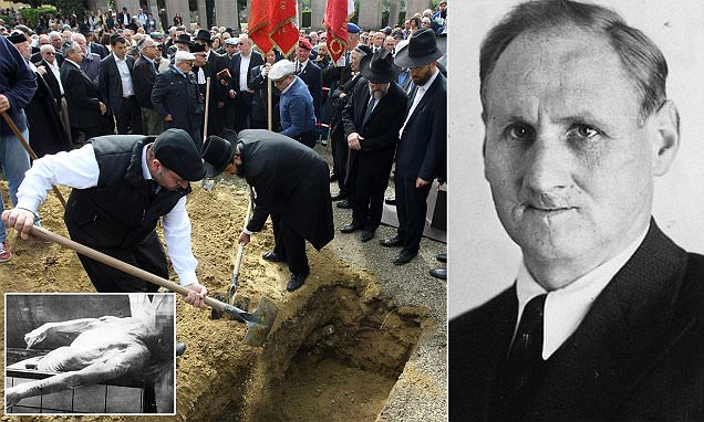 Polish Jew who was dismembered and pickled by Auschwitz Nazis laid to rest 72 years later