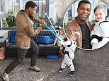 STRICT EMBARGO - NOT TO BE USED BEFORE 00:01 GMT MONDAY 14th MARCH 2015 - Editorial Use Only - No Merchandising\nMandatory Credit: Photo by JABPromotions/REX/Shutterstock (5613094d)\nJohn Boyega and Daniel Bell - John Boyega grants a very special wish for Daniel Bell (5), who is currently living with a brain tumour to meet 'Finn' from Star Wars: The Force Awakens, with Rays of Sunshine Children's Charity\nJohn Boyega meeting Daniel Bell for the Rays of Sunshine Children's Charity, The Royal London Hospital, Britain - 13 Mar 2016\nJohn Boyega grants a very special wish for Daniel Bell (5), who is currently living with a brain tumour to meet 'Finn' from Star Wars: The Force Awakens, with Rays of Sunshine Children's Charity. The selfless boy chose to use his wish to brighten the lives of other seriously ill children when he delivered toys with Finn to young patients being treated at The Royal London Hospital\n
