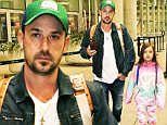"""Justin Bieber's dad Jeremy Bieber along with his Jeremy's daughter Jazmyn arrive at Pearson International Airport in Toronto, Canada. Jeremy Bieber just recently got engaged to his longtime girlfriend Chelsea Rebelo while on vacationing St. Barths. Jeremy and Jazmyn were returning home after visiting Justin Bieber after attending his """"Purpose Tour"""" Concert in Vancouver. The two packed really light for their short trip to see Justin Bieber, with no luggage just carrying backpacks. Jeremy was dressed in a blue denim jacket and jeans, wearing a Vancouver Canucks cap, and talking on his cellphone. While Jazmyn was wearing a colourful GapFit Tracksuit and running shoes.\n\nPictured: Jeremy Bieber, Jazmyn Bieber\nRef: SPL1245415  130316  \nPicture by: S Fernandez  / Splash News\n\nSplash News and Pictures\nLos Angeles: 310-821-2666\nNew York: 212-619-2666\nLondon: 870-934-2666\nphotodesk@splashnews.com\n"""