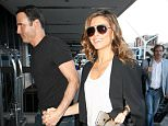 The newly engaged actress, tv host, and occasional wrestler Maria Menounos arrives at LAX airport with her fiance and is all smiles while flashing her ring. Friday, March 11, 2016 X17online.com