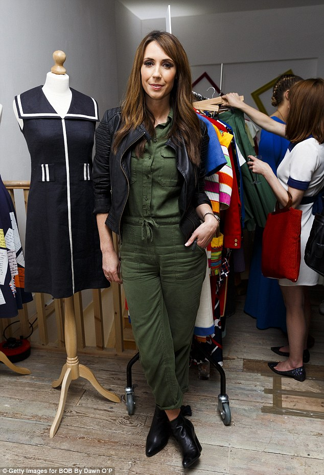 Jump-suit to it!Alex Jones attends the launch of Dawn O'Porter's BOB pop up boutique at Seven Dials