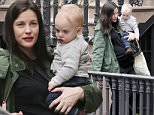 EXCLUSIVE TO INF. \nMarch 13, 2016: Liv Tyler and her sons, Milo Langdon and Sailor Gardner, spotted in New York City, New York.\nMandatory Credit: INFphoto.com Ref: infusny-198