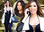 """EXCLUSIVE: After reporting a near rape incident with an Uber driver, Farrah Abraham is seen taking an important cell phone call after she records a new podcast for her show """"Farrah & Friends"""" in Los Angeles.....Pictured: Farrah Abraham ..Ref: SPL1243336  080316   EXCLUSIVE..Picture by: Splash....Splash News and Pictures..Los Angeles: 310-821-2666..New York: 212-619-2666..London: 870-934-2666..photodesk@splashnews.com.."""