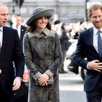 Kate Middleton Is in Shades of Grey for Commonwealth Day with Prince William and Prince Harry