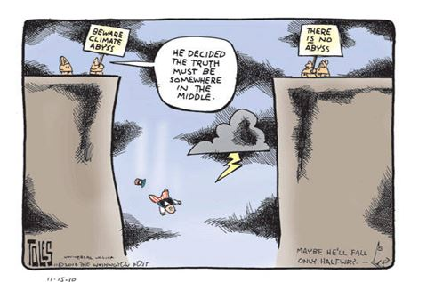Climate Change Middle Ground Fallacy