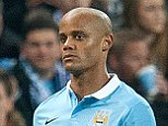 Mar 15th 2016 - Manchester, UK - MAN CITY KIEV DYNAMO - Man City Kompany injured PIcture by Ian Hodgson/Daily Mail