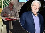 George Lucas pictured eating Chinese and a Diet Coke in an Adelaide food court
