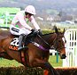 Ruby Walsh on board Vroum Vroum Mag clears the last and runs on to win the 4.10 the Olbg Mares Hurdle during Day One, Champion Day of the 2016 Cheltenham Festival at Cheltenham Racecourse on 15th March 2016