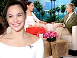 Star of the upcoming film ¿Batman vs. Superman: Dawn of Justice¿ GAL GADOT joins ¿The Ellen DeGeneres Show¿ for her first ever talk show appearance on Tuesday, March 15th.    Gal talks to Ellen about how she got the role for this film and that she is already filming the new Wonder Woman movie.  Gal also shares with Ellen what her daughter thinks of her new doll and what she thinks about having princesses as role models.