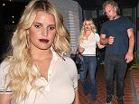 *EXCLUSIVE* West Hollywood, CA - Jessica Simpson and her husband Eric Johnson lock arms as they leave a double dinner date at Mercado Mexican restaurant. The blonde beauty dressed casual in a buttoned down polo shirt and flared jeans. Over the weekend, Jessica and Eric turned up the PDA in a raunchy Instagram post. AKM-GSI         March 15, 2016 To License These Photos, Please Contact : Steve Ginsburg (310) 505-8447 (323) 423-9397 steve@akmgsi.com sales@akmgsi.com or Maria Buda (917) 242-1505 mbuda@akmgsi.com ginsburgspalyinc@gmail.com
