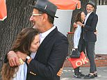 Emilie Livingston and Jeff Goldblum are seen in Los Angeles, California.  Pictured: Emilie Livingston, Jeff Goldblum Ref: SPL1246647  140316   Picture by: Bauer-Griffin/Bauergriffin.com