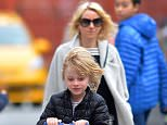 NEW YORK, NY - MARCH 13:  Naomi Watts and her sons, Samuel and Alexander Schreiber seen out and about in Tribeca on March 13, 2016 in New York City.  (Photo by Robert Kamau/GC Images)