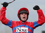 Horse Racing - Cheltenham Festival - Cheltenham Racecourse - 16/3/16  Nico de Boinville celebrates winning the 3.30 Betway Queen Mother Champion Chase on Sprinter Sacre  Action Images via Reuters / Paul Childs  Livepic  EDITORIAL USE ONLY.