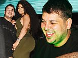 EXCLUSIVE: Rob Kardashian and Blac Chyna pictured at a party in Jamaica