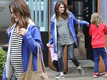 New York, NY - Keri Russell takes a break from filming 'The Americans' to spend time with her children. The 39-year-old actress is pregnant with her third child. Keri takes Willa and Deary to a pediatric center in Tribeca on a rainy Monday. The actress is wearing skinny jeans and a striped shirt paired with a bright blue coat as the three try to stay dry and dodge puddles on the streets of New York.\nAKM-GSI        March 14, 2016\nTo License These Photos, Please Contact :\nSteve Ginsburg\n(310) 505-8447\n(323) 423-9397\nsteve@akmgsi.com\nsales@akmgsi.com\nor\nMaria Buda\n(917) 242-1505\nmbuda@akmgsi.com\nginsburgspalyinc@gmail.com