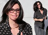 Courteney Cox leaving a salon in Beverly Hills looking like Jennifer Aniston after 3 hrs.\n\nPictured: Courteney Cox\nRef: SPL1243890  140316  \nPicture by: Clint Brewer / Splash News\n\nSplash News and Pictures\nLos Angeles: 310-821-2666\nNew York: 212-619-2666\nLondon: 870-934-2666\nphotodesk@splashnews.com\n