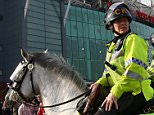 MANCHESTER, ENGLAND - MARCH 13:  Mounted police patrol outside the stadium prior to the Emirates FA Cup sixth round match between Manchester United and West Ham United at Old Trafford on March 13, 2016 in Manchester, England.  (Photo by Clive Brunskill/Getty Images)
