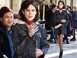 15.March.2016 - Paris - France\n***AVAILABLE FOR UK SALE ONLY ***\nAlexa Chung enjoys a cigarette while on the set of the new Longchamp advertising campaign in Paris, France\nBYLINE MUST READ : E-PRESS / XPOSUREPHOTOS.COM\n***UK CLIENTS - PICTURES CONTAINING CHILDREN PLEASE PIXELATE FACE PRIOR TO PUBLICATION *** CLIENTS MUST CALL PRIOR TO TV OR ONLINE USAGE PLEASE CALL  44 (0) 208 344 2007