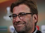 Football Soccer - Liverpool Press Conference - Old Trafford, Manchester, England - 16/3/16  Liverpool manager Juergen Klopp during the press conference  Action Images via Reuters / Lee Smith  Livepic  EDITORIAL USE ONLY.