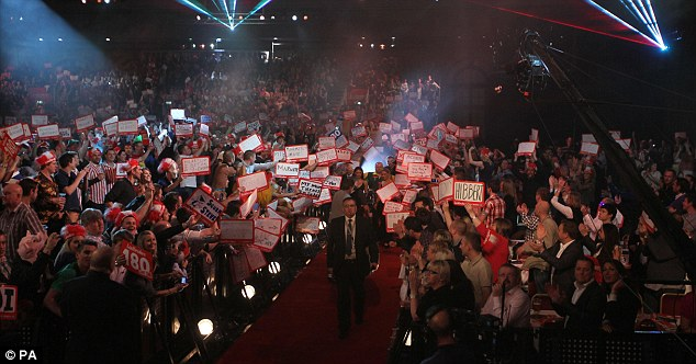 Packed house: Alexandra Palace was full to the rafters for the World Championship final