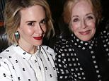 """NEW YORK, NY - OCTOBER 20:  (EXCLUSIVE COVERAGE) Sarah Paulson and Holland Taylor pose at the Opening Night After-party for """"Ripcord"""" at The Brasserie 8 and 1/2 on October 20, 2015 in New York City.  (Photo by Bruce Glikas/FilmMagic)"""