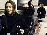 15 MARCH 2016 - LONDON - UK\n***EXCLUSIVE ALLROUND PICTURES***\nACTRESS LINDSAY LOHAN PICTURED PUFFING AWAY ON A CIGARETTE WHILE ENJOYING A NIGHT OUT AT NOVIKOV RESTAURANT WITH MYSTERY FRIEND!\nBYLINE MUST READ : XPOSUREPHOTOS.COM\n***UK CLIENTS - PICTURES CONTAINING CHILDREN PLEASE PIXELATE FACE PRIOR TO PUBLICATION ***\n**UK CLIENTS MUST CALL PRIOR TO TV OR ONLINE USAGE PLEASE TELEPHONE   44 208 344 2007**