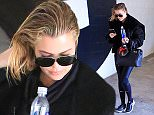 Khloe Kardashian dons wet hair as she joins sister Kim and her hubby Kanye West in Beverly Hills for a family workout session. March 14, 2016  X17online.com \nNO WEB SITE USAGE\nMAGAZINES NORMAL FEES\nAny queries please call Lynne or Gary on office 0034 966 713 949 \nGary mobile 0034 686 421 720 \nLynne mobile 0034 611 100 011\n