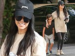 *EXCLUSIVE* Thousand Oaks, CA - Reality star, Kourtney Kardashian, takes son Mason, to the therapist office.  Kourtney was dressed in Yeezy baseball cap, tan long sleeve shirt, black leggings, and tan Yeezy trainers. AKM-GSI          March 15, 2016 To License These Photos, Please Contact : Steve Ginsburg (310) 505-8447 (323) 423-9397 steve@akmgsi.com sales@akmgsi.com or Maria Buda (917) 242-1505 mbuda@akmgsi.com ginsburgspalyinc@gmail.com