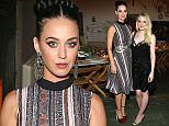 Mandatory Credit: Photo by REX/Shutterstock (5613736np) Katy Perry,Dakota Fanning Dinner Celebration in honour of RODARTE & Other Stories Collection, Los Angeles, America - 14 Mar 2016