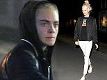 """EXCLUSIVE Cara Delevingne comes over very camera-shy, as she enjoys a night out with ladies man Evgeny Lebedev. The Russian businessman, who owns the Evening Standard, has previously dated Suki Waterhouse, Sadie Frost, Geri Halliwell, LIz Hurley and Joely Richardson. Evgeny and Cara enjoyed a night watching """"You Me Bum Bum Train"""", which is an Interactive theatre performance devised by Kate Bond and Morgan Lloyd in 2004, and appears to be almost impossible to get tickets for. The pair were joined by Cara's sister Poppy, who seemed unfazed about being photographed. 13 March 2016. Please byline: Will/RickyVantagenews.com"""
