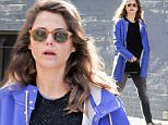 EXCLUSIVE TO INF.\nMarch 16, 2016: Keri Russell is photographed this morning showing her growing baby bump while going out for coffee in Brooklyn.\nMandatory Credit: Elder Ordonez/INFphoto.com Ref: infusny-160