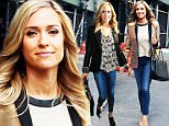 EXCLUSIVE: TV personality Kristin Cavallari, wearing a gold tuxedo jacket, jeans, tan mules and a Chanel bag, stops by Associated Press to promote her new book 'Balancing in Heels' in New York City on March 16, 2016.\n\nPictured: Kristin Cavallari\nRef: SPL1247264  160316   EXCLUSIVE\nPicture by: Christopher Peterson/Splash News\n\nSplash News and Pictures\nLos Angeles: 310-821-2666\nNew York: 212-619-2666\nLondon: 870-934-2666\nphotodesk@splashnews.com\n