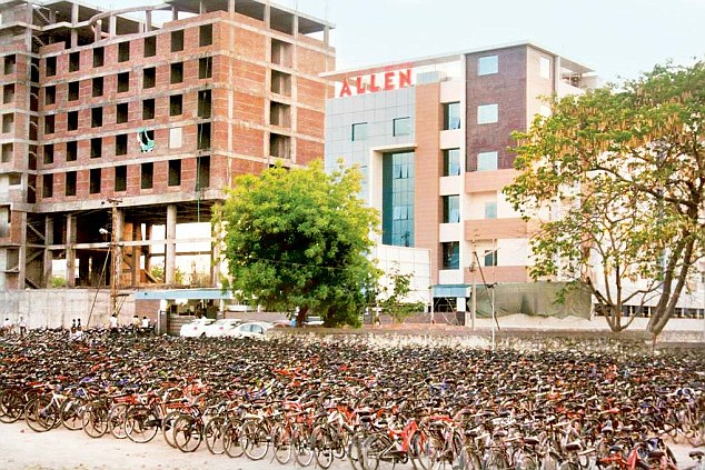 One can guess the popularity of this coaching institute by looking at the number of bicycles used by students