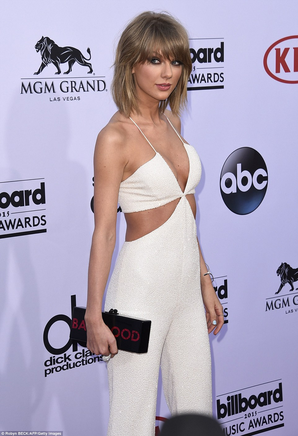 White hot! 25-year-old Taylor - who's up for an incredible 14 nominations - will also premiere her star-studded Bad Blood music video on Sunday