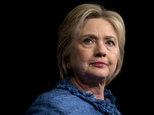 Democratic presidential candidate Hillary Clinton pauses as she speaks during an election night event at the Palm Beach County Convention Center in West Palm Beach, Fla., Tuesday, March 15, 2016. (AP Photo/Carolyn Kaster)