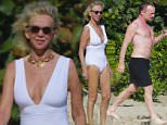 British singer Sting and wife  Trudie Styler enjoying a day in St Bart's.