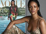 """*MEDIA ALERT* RIHANNA GRACES THE COVER OF VOGUE; TALKS HER LATEST ALBUM ANTI, HER NEW FENTY X PUMA COLLECTION, AND WHY SHE¿S NOT THREATENED BY BEYONCÉ¿S ¿FORMATION""""\n¿on national newsstands March 29!\n \nWorking It: Rihanna has revealed a new sound, launched an agency, designed a debut fashion line, and is embarking on a 63-city world tour. Can global domination be far behind? Abby Aguirre reports. Photographed by Mert Alas and Marcus Piggott. http://vogue.cm/Xku20xG\n \nCover + Photo Download: https://www.dropbox.com/sh/66cbfai1ov07jjx/AAAD17bpjUv9ESZ3BET1EjCPa?dl=0 \nPhoto Credit: Mert Alas and Marcus Piggott/ VOGUE\n \nFashion Credits\nCover: Tom Ford dress\nPhoto 1: Guvenchy Haute Couture by Riccardo Tisci Dress \n*Fashion Editor: Tonne Goodman\n \n++\nVideo\nBig Sean, Cara Delevingne, Kendall Jenner, Zendaya and more pay tribute to ¿Work¿\n \nEmbed Code:"""