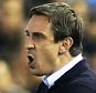 Gary Neville Manager of Valencia argues with the Referee during the UEFA Europa League Round of 16 match between Valencia CF and Athletic Club Bilbao played at The Mestalla Stadium, Valencia on March 17th 2016