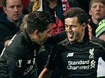 Mar 17th 2016 - Manchester, UK - MAN UTD V LIVERPOOL -   Liverpool goal Europa PIcture by Ian Hodgson/Daily Mail