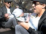 EXCLUSIVE TO INF:\nMarch 17, 2016: Bobby Cannavale is pictured this morning feeding his son Rocco Cannavale on the stoop of an apartment in New York City.\nMandatory Credit: Elder Ordonez/INFphoto.com Ref: infusny-160