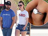 Exclusive... 51997958 Shia LaBeouf and his long time girlfriend Mia Goth have gotten engaged. Here we see the first pictures of Mia showing off her giant ring as she and Shia step out in Los Angeles on March 16, 2016. LeBeouf has hinted to random strangers about the engagement, including a grocery store clerk and viewers of his 24-hour elevator ride on the internet. ***NO WEB USE W/O PRIOR AGREEMENT - CALL FOR PRICING*** FameFlynet, Inc - Beverly Hills, CA, USA - +1 (310) 505-9876