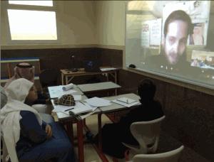 Skype English Teacher Philip Prince Khalid Visit