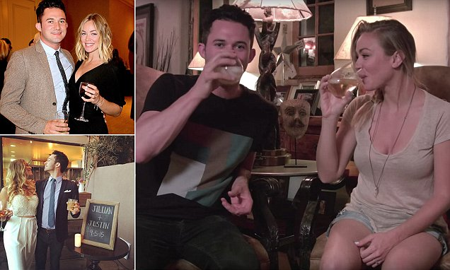 Newlyweds drunkenly tell the story about how they first met in video